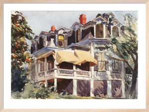 The Mansard Roof, 1923 by Edward Hopper