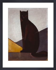 Le chat noir, 1921 by Marcel-Louis Baugniet