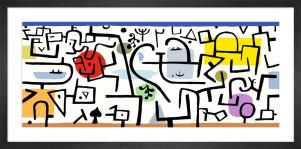 Port florissant 1938 by Paul Klee