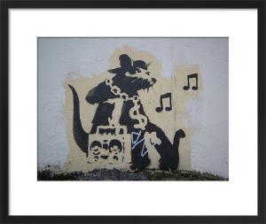 Ghetto Blaster Rat by Street Art