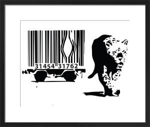 Leopard Barcode by Street Art