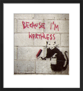 Because I'm Worthless by Street Art