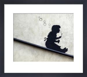 Bubble Girl by Street Art