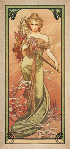 Printemps 1900 by Alphonse Mucha
