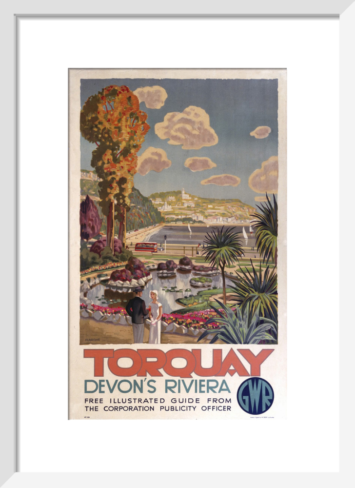 Casually torquay railway vintage poster