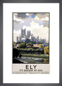 Ely - Cathedral Across River by National Railway Museum