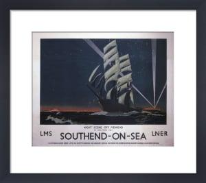 Southend-On-Sea - Night scene off Pierhead by National Railway Museum