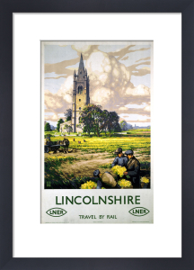 Lincolnshire - Farmers and Church by National Railway Museum