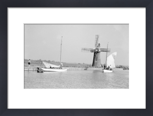 Norfolk Broads - B & W photo 1 by National Railway Museum