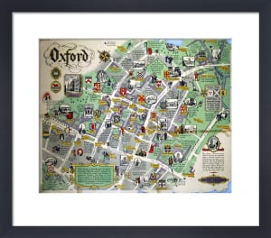 Oxford - Map by National Railway Museum