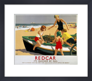 Redcar - Boat on Beach by National Railway Museum