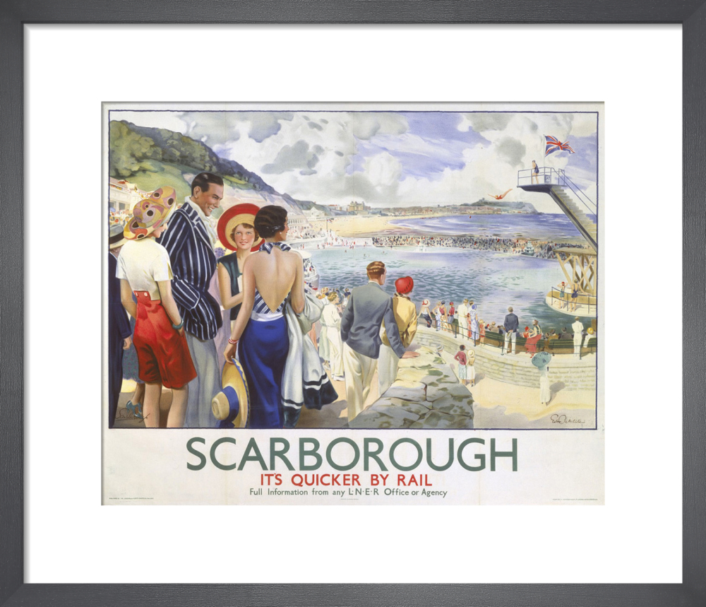 Scarborough - Swimming Pool Art Print by National Railway Museum ...