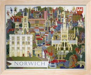 Norwich - Illustration from the Air by National Railway Museum