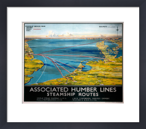 Associated Humber Lines - Steamship Routes by National Railway Museum