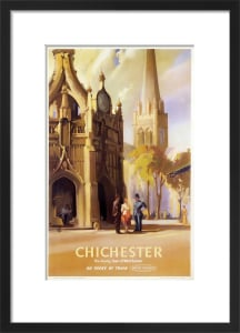 Chichester - Clock Tower and Cathedral by National Railway Museum