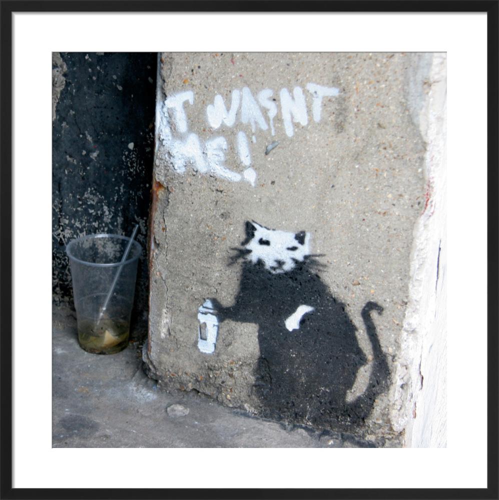 Banksy graffiti rat art print by panorama london king mcgaw