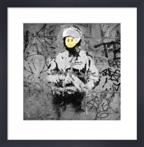 Banksy - Riot Cop by Panorama London