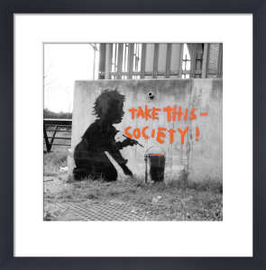Banksy - Child Protest by Panorama London