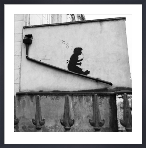 Banksy - Lower Clapton (B&W) by Panorama London