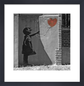 Banksy - New North Road (B&W) by Panorama London
