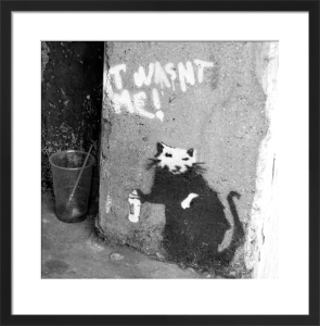 Banksy - Penton Street (B&W) by Panorama London