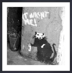 Banksy - Penton Street (B&W) by Panorama London
