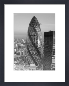 Gherkin (B&W) by Panorama London