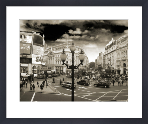 Piccadilly Circus - Lamppost (Sepia) by Panorama London