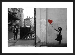 Banksy - Vestry Street (B&W) by Panorama London