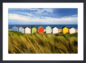 Beach Huts, Southwold by Margaret Heath