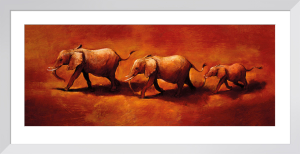 Three African Elephants by Jonathan Sanders
