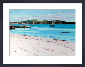 Summer Mooring, Iona by Frank Colclough
