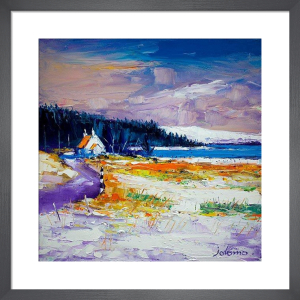 First Snow at Pennyghael, Mull by John Lowrie Morrison
