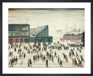 Going To The Match by L S Lowry