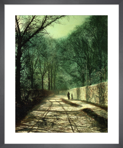 Tree Shadows in the Park Wall, Roundhay, Leeds by John Atkinson Grimshaw