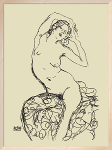 Seated nude, 1914-16 by Gustav Klimt
