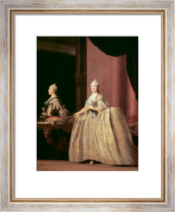 Catherine the Great in front of a mirror 1779 by Virgilius Erichsen