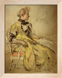 Dress Study by Carl Larsson