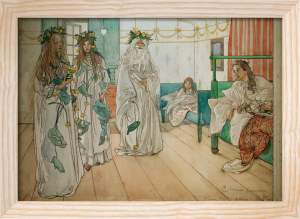 Naming day congratulations 1899 by Carl Larsson