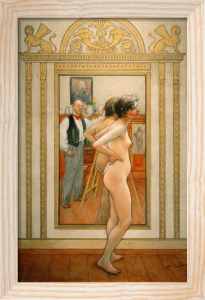 In front of the mirror 1898 by Carl Larsson