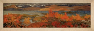 Autumn day near Torne Trosk 1909 by Helmer Osslund