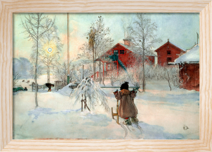 The Farmhouse and the Washhouse 1896 by Carl Larsson