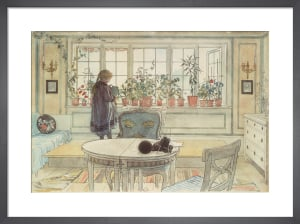 The Flowers at the Window 1896 by Carl Larsson