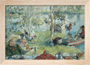 Catching Crayfish 1896 by Carl Larsson
