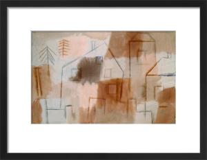 Ort in Blau und Orange (Village in Blue and Orange), 1924 by Paul Klee