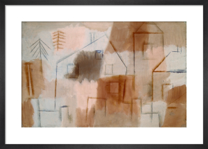 Ort in Blau und Orange (Village in Blue and Orange), 1924 by Paul Klee