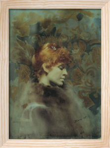 Portrait of Miss Law 1885 by Anders Leonard Zorn
