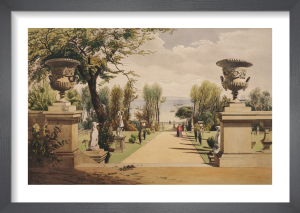 View in the Gardens at Westfield House (Isle of Wight) by Edward Adveno Brooke