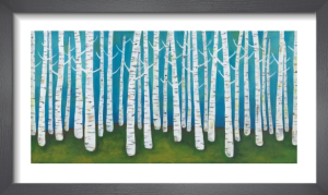 Springtime Birches by Lisa Congdon