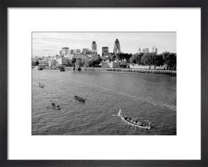 The Great Boat Race passing the City by Niki Gorick